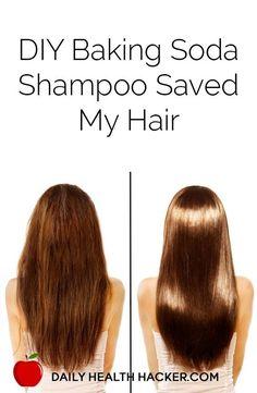 DIY Baking Soda Shampoo Saved My Hair - Worth a shot since baking soda is just generally magical