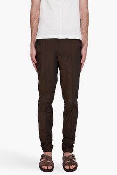 Lanvin Taffeta Trousers for men - StyleSays