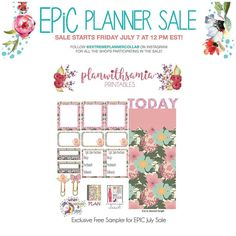Only a few hours left for the sale. A link to this printable will be available with purchase from my shop  I will be offering 40% off no minimum. Stay tuned for the code and follow @extremeplannercollab for more details  #etsyseller #etsyshop #plannernerd #plannergirl #epicsale #extremeplannercollab #eclp #ecmonthly #eclifeplanner #eclpnotepagelove #freesampler #freebies