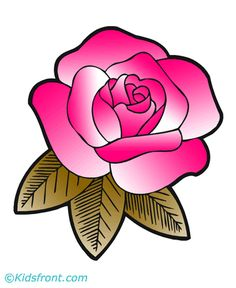 pink rose coloring pages for kids toddlers kindergarten to color and print find free printable pink rose coloring pages for coloring activities - Rose Coloring Pages Teenagers