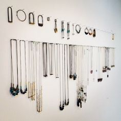 Jewelry display idea for a craft show booth