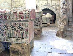 Templar Church of Santa Maria Blanca - Pained Templar tombs, Villalcazar de Sirga, Spain