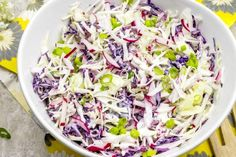 This low carb coleslaw recipe offers a satisfying crunch without a high carb content. #lowcarb #keto #ketorecipe #coleslaw #bbq