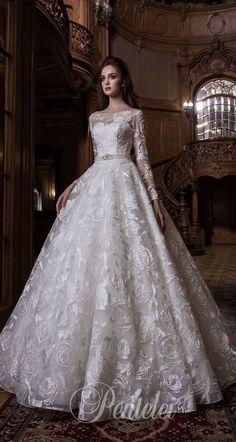 Straight across neckline long sleeves fully embellishment ball gown wedding dress #weddingdress #wedding #weddinggown #wedding #weddingideas #weddings #weddingdresses #weddingdress #bridaldress #bridaldresses