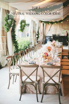 top 5 netural wedding color combo ideas 2015