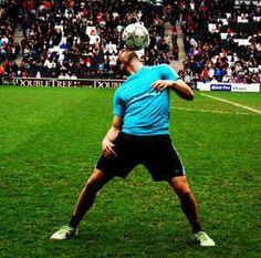 Football skills juggler Football skills juggler - world record holder UK