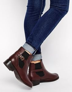 Agrandir New Look - Digby - Bottines chelsea en cuir - Rouge