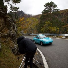 Shooting in the swiss mountains. @Studioorel and the Fiat Abarth 1000 Bialbero 1963.⠀⠀ See more great pics and information about the Fiat Abarth 1000 Bialbero 1963 in our Abarth Classics Photobook! Pre-order without obligation (link in bio)…