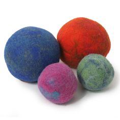 Marbled Boiled Wool Ball Dog Toy