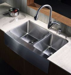 7 Inch Apron Front Sink : Inch Stainless Steel Curved Front Farm Apron Double Bowl Kitchen Sink ...
