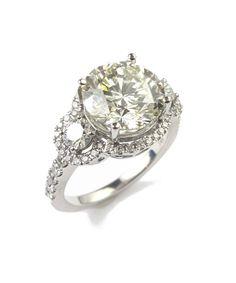 Vintage 4.85ctw DIAMOND engagement ring, 4.01ct Center!