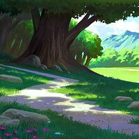 Just wanted to paint something peaceful and green to chill.again, based in one of my 3 value thumbnails. Chill, Landscape, Artwork, Green, Nature, Anime, Painting, Drawings, Art Work