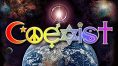 Coexist Universal Peace on Earth Poster Peace On Earth, World Peace, Letters To God, Black Light Posters, Divine Mercy, World Religions, Christmas Bulbs, Poster Prints, Spirituality