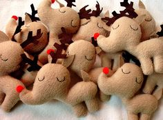 Reindeer By mypapercrane/Heidi Kenney @Tony Wang...still not finished, to become ornaments. (They are adorable.)