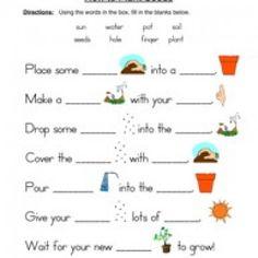 seeds plants worksheet fill in the blanks. Black Bedroom Furniture Sets. Home Design Ideas