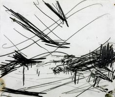 Frank Auerbach - Working Drawing for 'Primrose Hill' Gestural and pictorial depth approach, good sense of distance despite few, basic lines. Shows what draws him into the landscape. Landscape Sketch, Landscape Drawings, Abstract Drawings, Cool Landscapes, Gesture Drawing, Line Drawing, Drawing Sketches, Drawing Poses, Drawing Reference