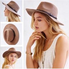 Urban Outfitters Braided Trim Felt Panama Hat Urban Outfitters Braided Trim Felt Panama Hat. Felt Panama Hat. Structured felt hat in a western style Panama silhouette. Trimmed with a tonal leather band along the crown. 100% wool NWT. Urban Outfitters Accessories Hats