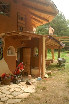 a family's sweet blog about building their own cob house <3