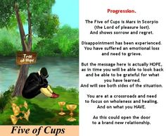 FIVE OF CUPS http://tarotromance.com/