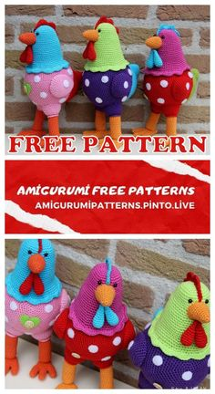 Welcome to our website where you can find the most beautiful and highest quality samples of Amigurumi patterns. Easter Crochet Patterns, Crochet Bunny Pattern, Crochet Amigurumi Free Patterns, Crochet Toys, Free Crochet, Chicken Pattern, Crochet Chicken, Coq, Crochet Projects
