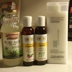 It works. This is what I do too but have yet to try aloe juice. I just use disti. It works. Texturizer On Natural Hair, Natural Hair Care, Natural Hair Styles, Au Natural, Relaxed Hair Regimen, Hair Health, Jojoba Oil, Healthy Hair, Aloe