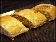 Hojaldre de #carne arrollado - #recipe in #Spanish