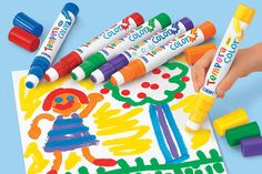 Jumbo Tempera Painters - 6-Color Set- These are awesome! The colors are very bright and vibrant.