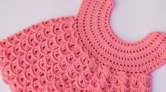 In part 2 of this crochet video lessons we continue crocheting a tape lace. This lesson show you how to crochet lace, which you can use as bracelet, o. Crochet Baby Dress Free Pattern, Crochet Toddler Dress, Crochet Dress Girl, Baby Girl Crochet, Crochet Baby Clothes, Crochet Patterns, Lidia Crochet Tricot, Knit Crochet, Stitch Crochet