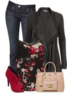 Cami floral tank top casual fall outfit