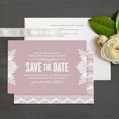 Elegant Noveau Save The Date Cards by Ellinée