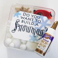 "Make this ""Do You Want to Build a Snowman?"" Craft Kit for your next Frozen party!"