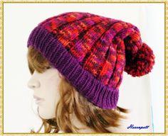 Mütze mit Bommel, Beanie von Hexenpott auf DaWanda.com