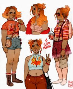 Art of Annalise — Human Flame Princess, whom I previously drew here. Character Drawing, Character Concept, Concept Art, Cartoon Kunst, Cartoon Art, Pretty Art, Cute Art, Flame Princess, Princess Art