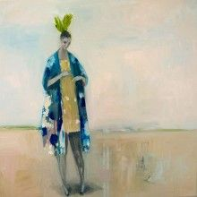 Kristin Vestgard Search oil 70 x 70cm part of her exhibition at www.cornwallcontemporary.com