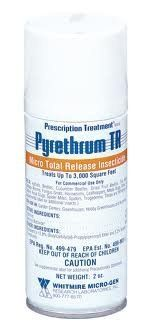Pyrethrum Total Release Fogger, 2 Oz by Pyrethrum. $14.29. Releases enough pyrethrin pesticide to clear 3,000 cubic feet. Pest control bomb for all indoor gardening pests. Active ingredients Pyrethrins, Piperonyl Butoxide. Pyrethrum TR is a ready-to-use, ultra low volume insecticide fogger. It effectively controls aphids, fungus gnats, mites and whiteflies, along with numerous other secondary insect pests. Pyrethrum TR is used as an early rotational insecticide...