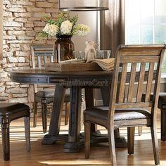 Carlsbad Round Dining Table Coaster Furniture | Furniture Cart