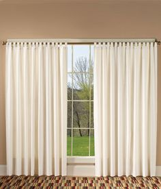 """Weaver's Cloth 3"""" Tab Top Curtains for Wider Windows Sage, 72"""" length. $79.50 tie backs $9.50"""