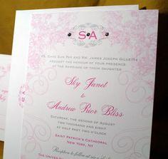 Romantic Pink Wedding Invitations-1