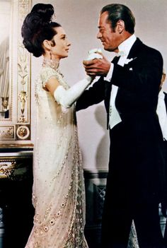 "Rex Harrison with Audrey Hepburn in ""My Fair Lady"" (1964)  Rex Harrison - Best Actor Oscar 1964"