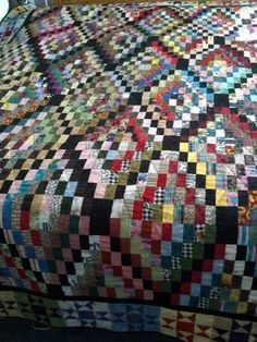 Rectangle wrangle, Bonnie Hunters pattern.