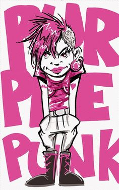 Punk, Illustration, Characters, Drawing, Pop, Art