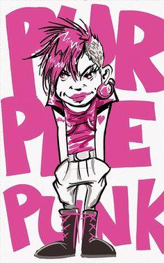 Punk, Illustration, Characters, Drawing, Pop, Art