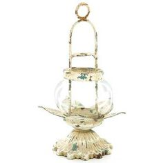 Get Antique Cream & Blue Metal Petal Candle Lantern online or find other Candle Holders products from HobbyLobby.com