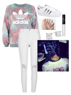 """""""Adidas"""" by myahboo12 ❤ liked on Polyvore featuring adidas, River Island and NARS Cosmetics"""