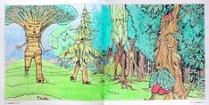 Beasts of Tolkien - Ents Coloured with Polychromos