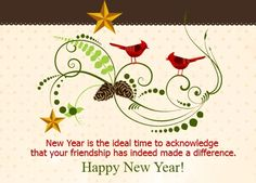 New Year greeting comic sms