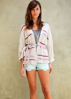 Fashion girls rock kimonos everywhere now! Goddis - Archer Belted Kimono In Cactus Flower - offering wide cut sleeves, open front, and a relaxed fit. Get it now at CoutureCandy, price drops 75% off to $49.00 and can be even lower today! Click for more details now {affiliate link}