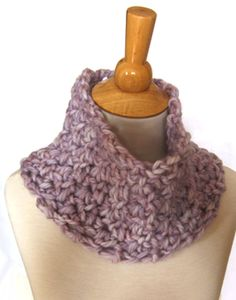 1/2 hour + 1 skein of bulky yarn + size Q crochet hook = a soft, thick, snugly cowl! Great for last minute Christmas gifts.
