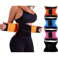 Double Compression, Sweatproof , Pro Waist Trainer Fitness Belt. Pro  Slimming Abdominal Binding Wrap 3e27c468848