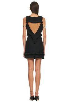 Mara Hoffman Open Back Mini Dress in Black